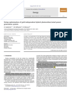 Sizing optimization of grid-independent hybrid photovoltaic/wind power generation system