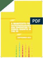 Manifesto for Entrepeneurship