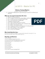 Word 2010 Basics for PC