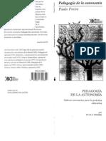 Paulo Freire - Pedagogia de La Autonomia