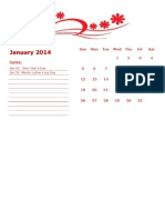 2014 Monthly Calendar Landscape 06