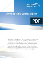 Informe de gestión y plan de negocios de Aerolíneas Argentinas y Austral