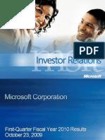 Microsoft [MSFT] Earnings Deck