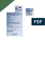 Brosur Etiket Kardus Vial