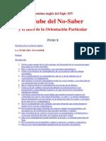 La Nube del No Saber - El libro de la orientacion particular.pdf