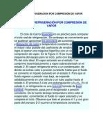 EL CICLO DE REFRIGERACIÓN POR COMPRESIÓN DE VAPOR