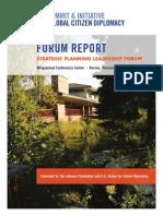 2011 Wingspread Forum Report
