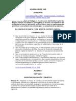 Acuerdo 20 de 1995 Ver 2001
