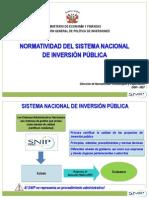 Normatividad Del SNIP - MEF