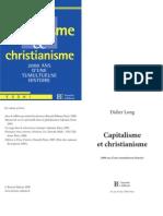 Capitalisme et christianisme, 2000 ans d'une tumultueuse histoire, de Didier Long