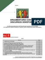 Argumentario contra discursos xenófobos (PSOE Coslada)
