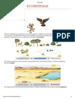 Ecosistemas - Componentes y Factores