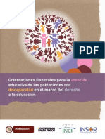 Atencion Educativa Con Discapacidad
