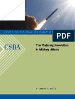 The Maturing Revolution in Military Affairs