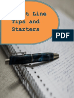 Subject Line Tips and Starters