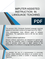 f  computer assisted instruction in language teaching