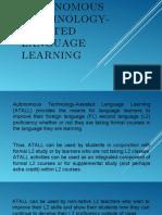 i  autonomous technology-assited language learnning