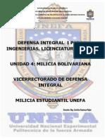 Tema 4.1 y 4.2 Milicia Bolivarianadefensa Integral