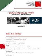 Encuesta Nacional de Opinión. Una mirada hacia lo local. ICHEM - U. Autónoma
