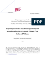Exploring the Effect of Educational Opportunity and Inequality on Learning Outcomes in Ethiopia, Peru, India, And Vietnam 32