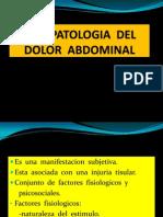 Fisiopatologia Del Dolor Abdominal