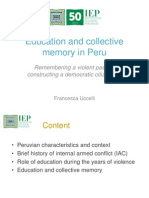 Education and Collective Memory in Peru