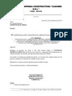 Presentación Contrato Modificatorio No1