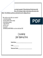 counseling-self referral form
