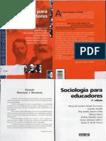 Livro Sociologia Para Educadores PDF
