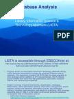 database analysis msanders 501322