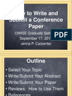 How to Write-Submit a Conference Paper