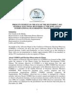 CODEO Pre-Election Press Statement