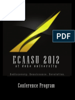 Final Ecaasu 2012 Program