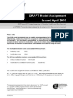 69715 Unit f952 Personal and Professional Development in the Work Environment Model Assignment Qcda Endorsed