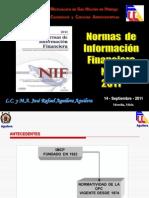 Antecedentes e Inventario NIF's 2011