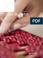 Tax Bulletin - October 2012