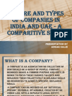 Nature and Types of Companies in India and UAE
