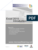 Excel 2010 Introduction Best STL Training Manual