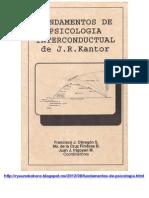 Fundamentos de Psicologia Interconductual - J.R. Kantor