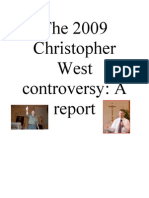 The 2009 Christopher West Controversy Report