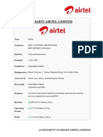 Assignment on Bharti Airtel Ltd.