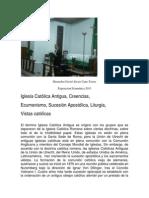 Hiostoria de La Iglesia Antigua Catolica