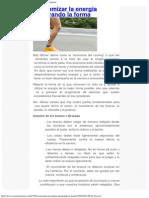 Economizar la energía mejorando la forma _ Soy Maratonista