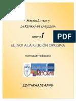 Lutero y La Reforma Lecturas de Apoyo Unidad 1