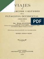 Viajes de esploración i estudio en la Patagonia Occidental 1892-1902. T.II.1ra. parte (1909)