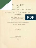 Viajes de esploración i estudio en la Patagonia Occidental 1892-1902. T.II.2da. parte (1909)