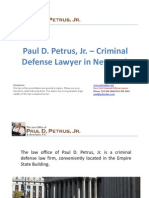 Paul D. Petrus, Jr. – Criminal Defense Lawyer in New York