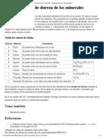 Escala de Mohs de Dureza de Los Minerales - Wikipedia, La Enciclopedia Libre