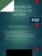Estrategias de Desarrollo de Lectura