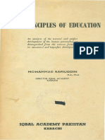 First Principles of Education by Dr Muhammad Rafiuddin